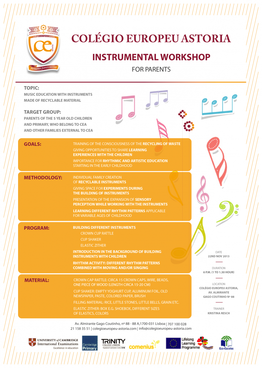 Colégio Europeu Astoria - Instrumental Workshop